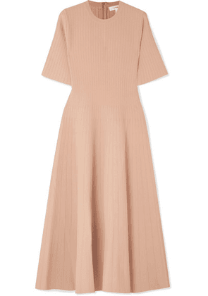 CASASOLA - Ribbed Stretch-knit Midi Dress - Beige