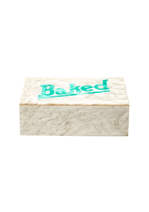 Edie Parker Baked Marbled Acrylic Box