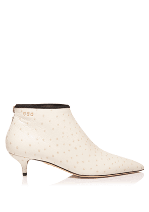 Charlotte Olympia Boots Women - SILVIA 40 OFF WHITE Printed Ostrich Calfskin 36