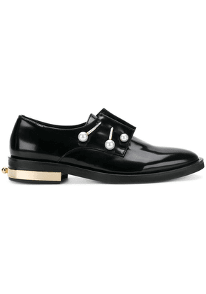 Coliac pearl detail loafers - Black
