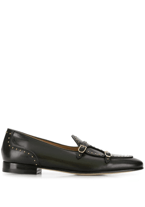 Edhen Milano studded monk shoes - Green