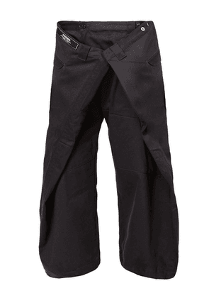 Anrealage oversized cropped trousers - Black