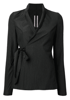 Rick Owens textured wrap jacket - Black