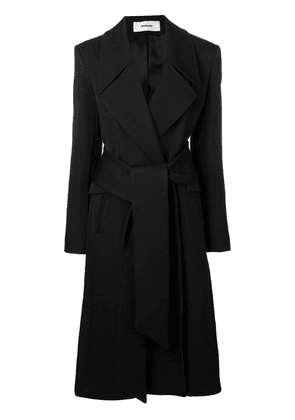 Chalayan belted mid-length coat - Black