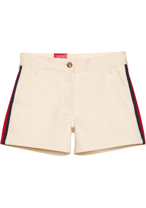Gucci Cotton shorts with Web - White