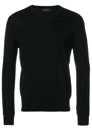 Joseph v-neck sweater - Black