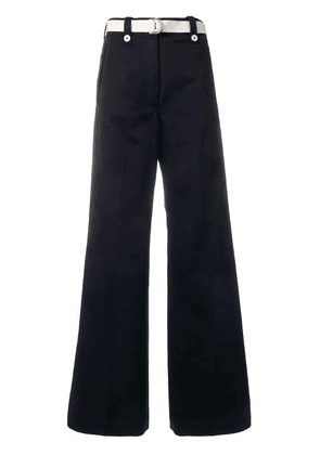 Moncler belted wide leg trousers - Blue