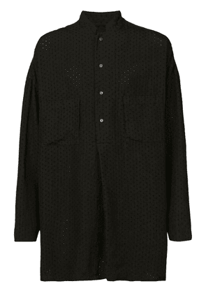 Forme D'expression embroidered pullover shirt - Black