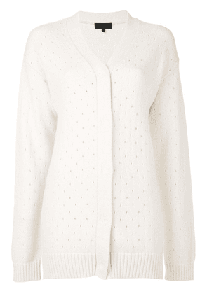 Cashmere In Love Baby chunky cardigan - Neutrals