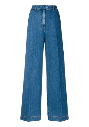 Fendi high-waist flared jeans - Blue