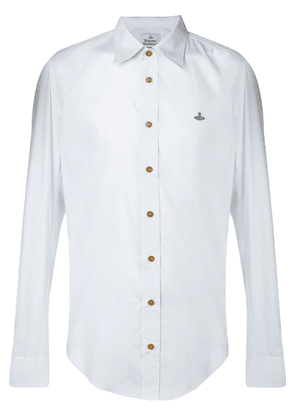 Vivienne Westwood embroidered logo shirt - Blue