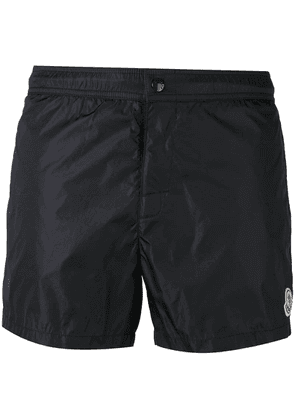 Moncler contrast piped swim shorts - Blue