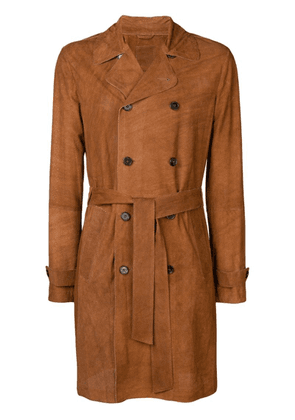 Desa 1972 perforated double-breasted coat - Brown