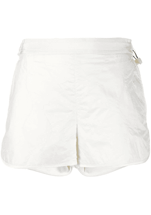 Moncler high-waisted shorts - White
