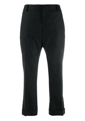 Saint Laurent cropped pinstripe trousers - Black
