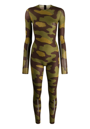 Dsquared2 camouflage print stretch bodysuit - Green