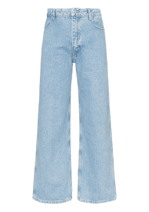 Eckhaus Latta cropped straight leg jeans - Blue