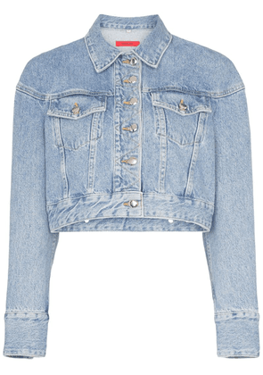 Eckhaus Latta cropped denim jacket - Black