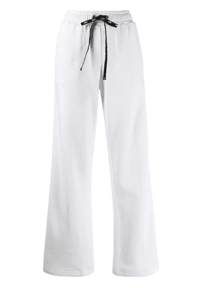 Fendi flared logo jogging trousers - White