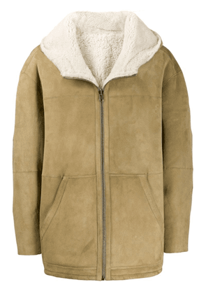 Isabel Marant hooded suede jacket - Neutrals