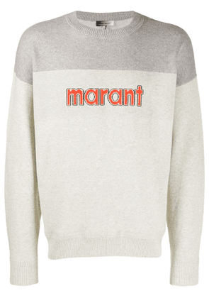 Isabel Marant logo knit sweater - Grey