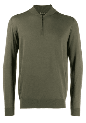 Loro Piana zip up sweatshirt - Green