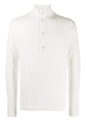 Loro Piana button up sweatshirt - White