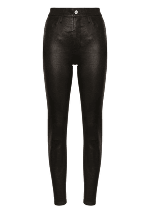 FRAME Le Sylvie skinny leather trousers - Black