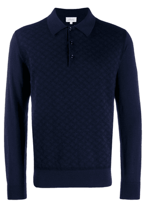 Brioni knitted polo shirt - Blue
