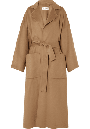 Loewe - Oversized Belted Wool And Cashmere-blend Coat - Camel