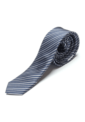 Boy's Diagonal Striped Silk Tie, Size S-XL
