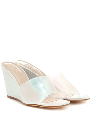 Paradise leather wedge sandals