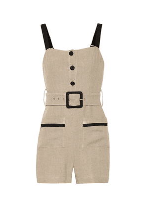 Exclusive to Mytheresa – Lampone cotton and linen playsuit