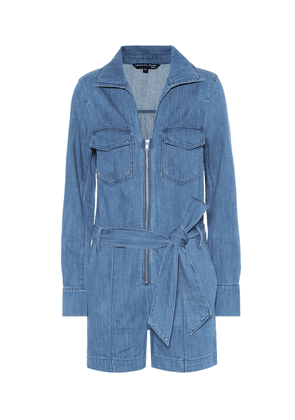 Keenan cotton and linen playsuit