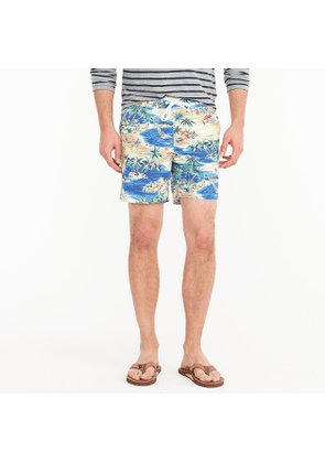 6' swim trunk in island print