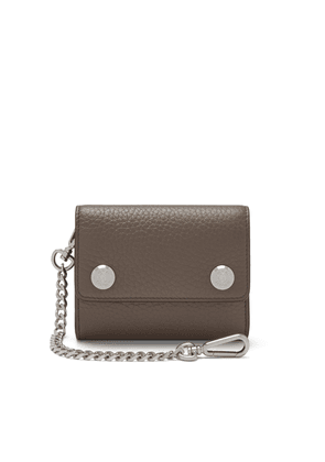 Mulberry Wallet on Chain in Earth Grey Heavy Grain