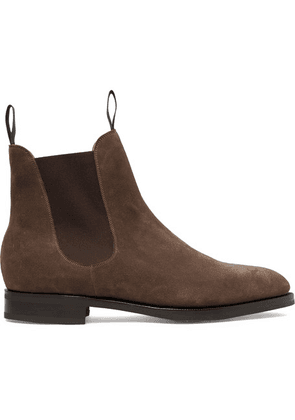 Edward Green - Newmarket Suede Chelsea Boots - Brown