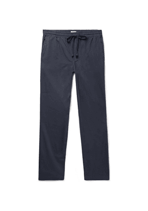 Faherty - Marty Cotton And Lyocell-blend Drawstring Trousers - Navy