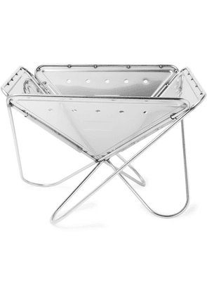 Snow Peak - Large Stainless Steel Pack & Carry Fireplace - Silver