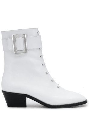 Dorateymur buckle-detail ankle boots - White