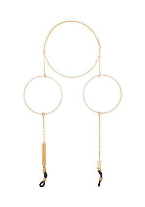 Frame Chain Circle of Lust crystal hoop chain - Gold