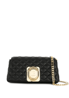 Balmain logo plaque cross body bag - Black