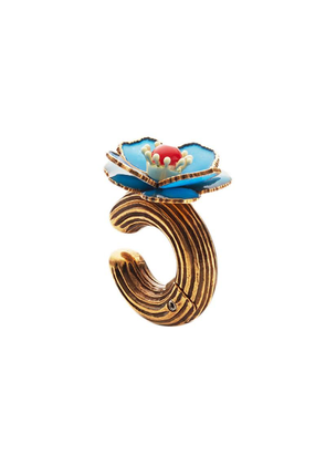 Fendi single flower earring - Gold