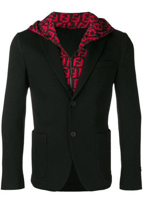 Fendi FF hooded blazer - Black