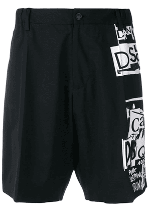 Dsquared2 collage print shorts - Black