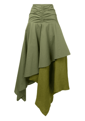Loewe long asymmetric skirt - Green
