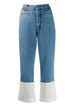 Loewe fabric mix jeans - Blue