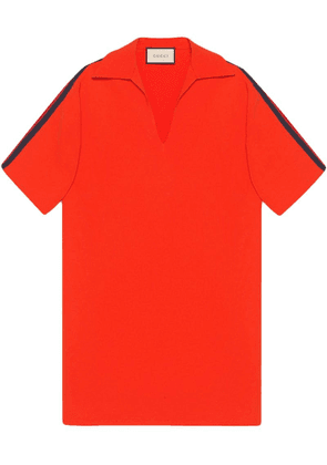 Gucci Oversize viscose shirt with Web - Orange