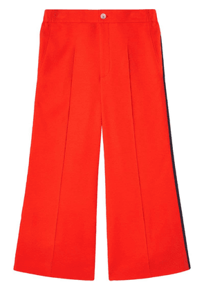 Gucci Viscose culotte trousers with Web - Orange