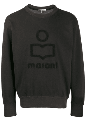 Isabel Marant textured logo sweatshirt - Black